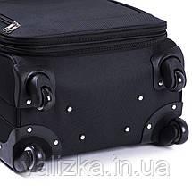 Середній текстильний валізу сірий на 4-х колесах Wings 6802, фото 3