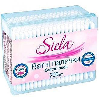 Ватные палочки Siela Cotton buds 200 шт. ( коробка )
