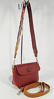 Клатч, сумочка на цветном ремешке Batty 620-1 бордовая, фото 1
