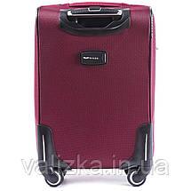 Средний текстильный чемодан красный на 4-х колесах Wings 6802, фото 3