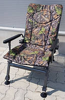 Карповое кресло Elektrostatyk с подлокотниками (нагрузка до 110 кг)(F5R) Цвет: Камуфляж Клён