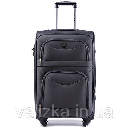 Большой тканевый чемодан серый на 4-х колесах Wings 6802, фото 2