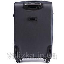 Большой тканевый чемодан серый на 4-х колесах Wings 6802, фото 3