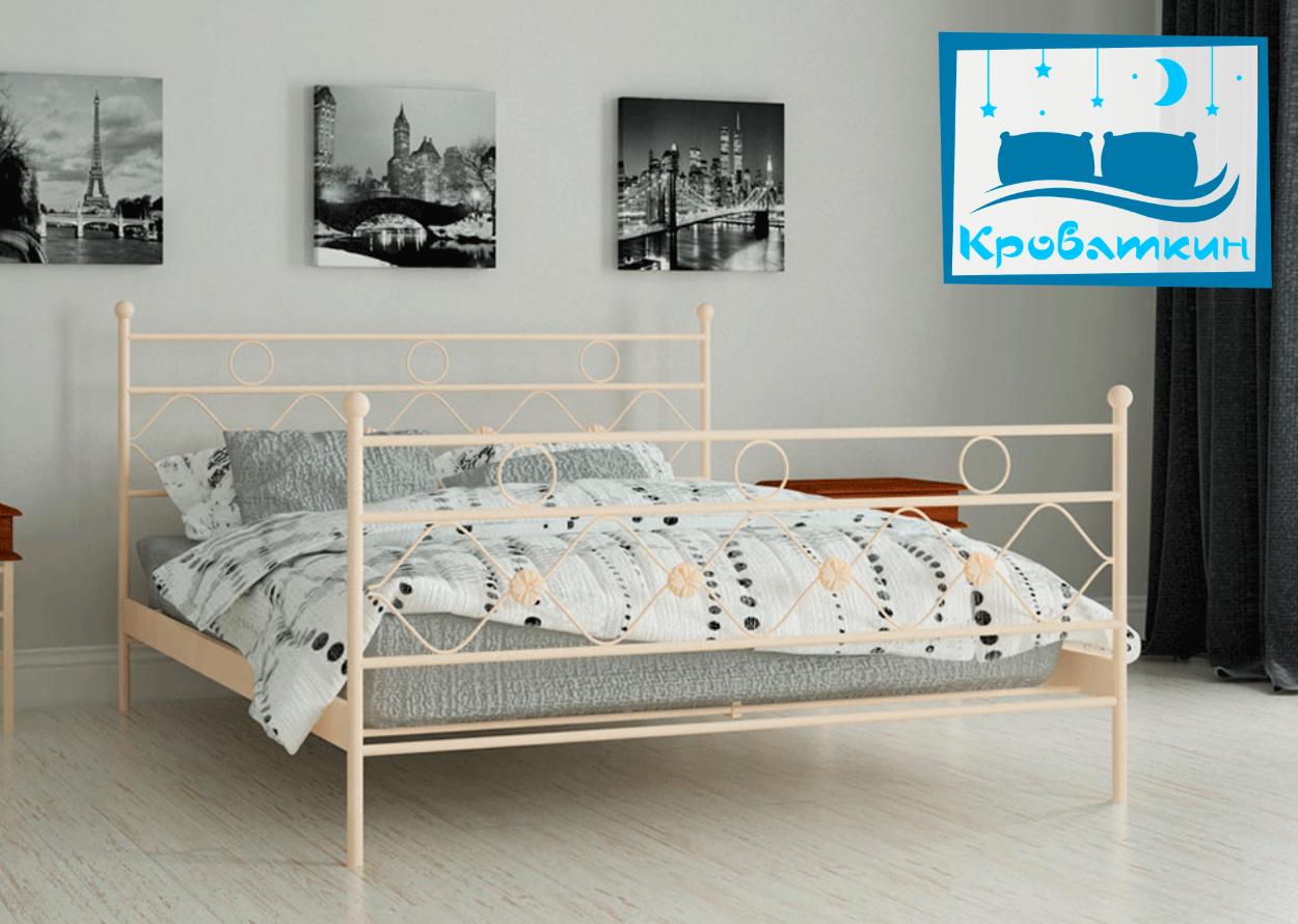Металлическая кровать Бриана 80х190см Мадера