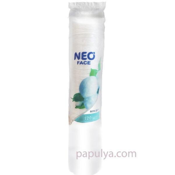 Ватные диски косметические NEO 120шт (высокая мягкость и прочность)