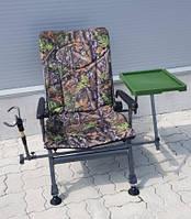 Карповое кресло Elektrostatyk с подлокотниками и столиком (F5R ST/P) Цвет: камуфляж Клён