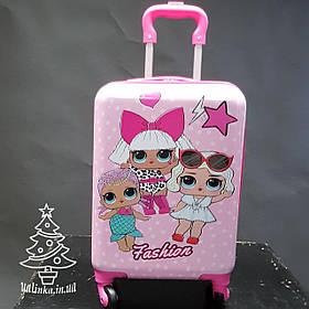 Детский дорожный чемодан на 4-х колесах куклы Лолы 600-5