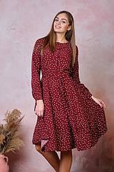 Платье для администратора темно-красного цвета