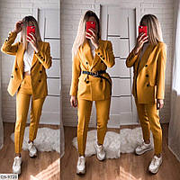 Классический женский деловой костюм пиджак и брюки арт 7162