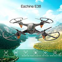 Белый квадрокоптер Eachine E38 FPV WI-Fi камера | 13 минут полёта | мощные моторы