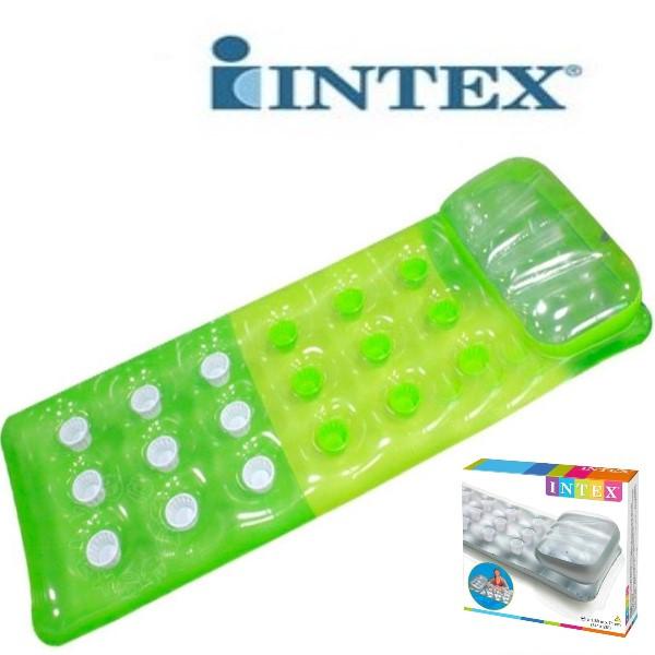 Пляжный одинарный надувной матрас для плаванья INTEX 188*71 см 58890