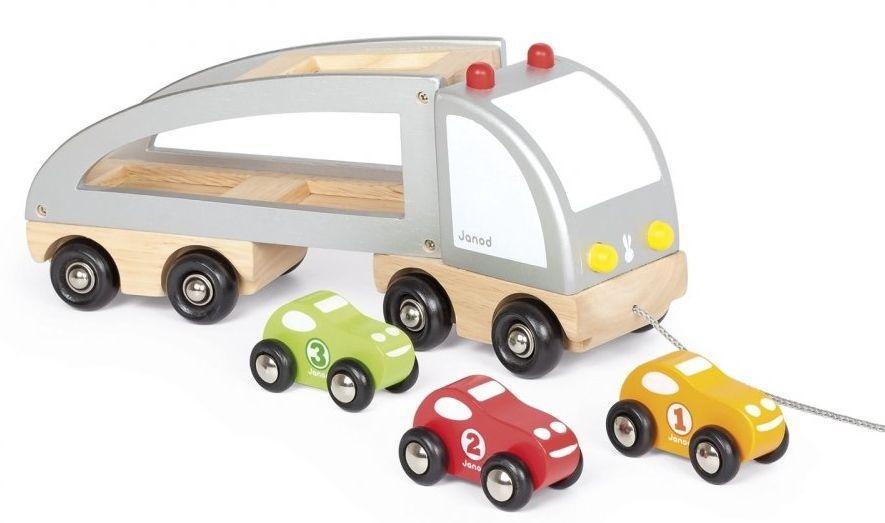 Машинка Janod Автовоз и 3 машинки