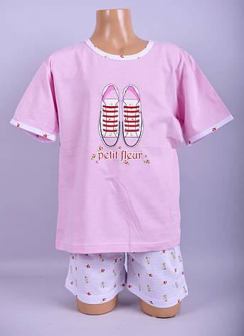 Піжама для дівчат Natural Club 1048 140 см Рожевий, фото 2