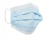 Одноразовая медицинская трехслойная маска на основе фильтрующей ткани MELTBLOWN - продажа кратно 50 штук., фото 1