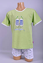 Піжама для дівчат  Natural Club 1048 110 см Зелений