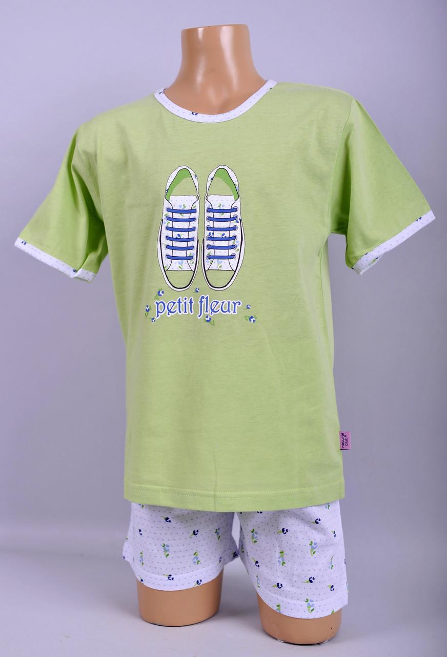 Пижама для девочки Natural Club 1048 116 см Зеленый