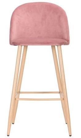 Барный стул Bellini бук/pink velvet