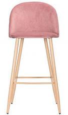 Барный стул Bellini бук/pink velvet, фото 3