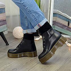 Ботинки демисезонные женские черные на молнии. 39 размер