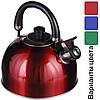Чайник зі свистком для плити нержавійка A-PLUS 3 л