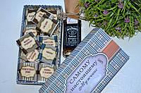 Мужской подарочный набор с виски и шоколадом Самому настоящему мужчине, фото 1