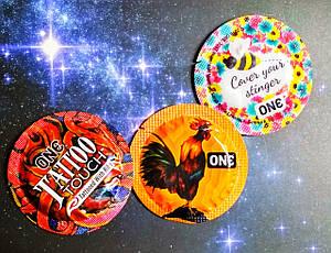 Набор презервативов ONE (USA) США 3 шт. оригинальные презервативы с приколами