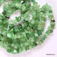 Сколы Камня Нефрита, Натуральные, 6~8~10 мм, Цвет: Зеленый (90 см/нить)