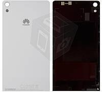 Задняя панель корпус (крышка батареи) для Huawei Ascend P6-U06, белый, оригинал