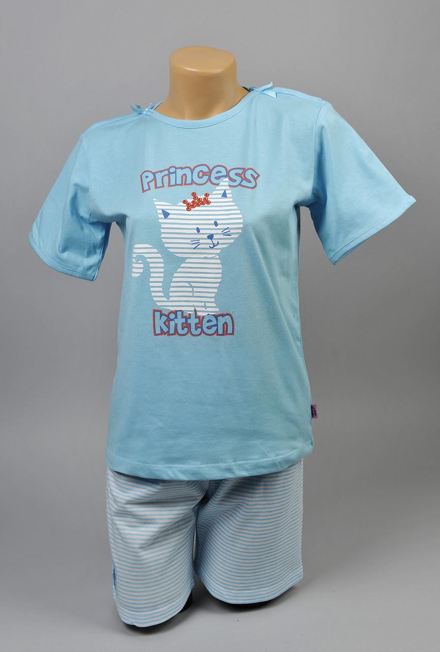 Пижама для девочки Natural Club 1054 104 см Голубой