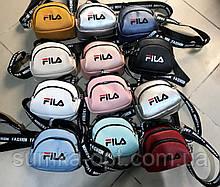 Брендовые сумочки-клатчи на плечо FILA кожвинил (8 цветов)14*18см