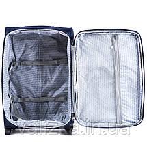 Малый текстильный чемодан серый с расширителем Wings 6802-2, фото 2