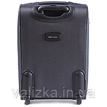 Малый текстильный чемодан серый с расширителем Wings 6802-2, фото 3