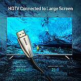 Кабель BASEUS Horizontal с HDMI на HDMI 4k, 1 м, черный, фото 3