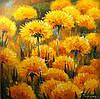 Интерьерная картина для современного интерьера Цветы Одуванчики