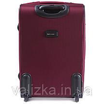 Средний текстильный чемодан красный с расширителем Wings 6802-2, фото 3