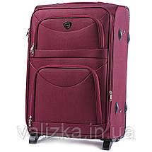 Средний текстильный чемодан красный с расширителем Wings 6802-2, фото 2