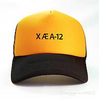 Бейсболка IMask жовто-бурштинового кольору і чорним козирком, фото 1