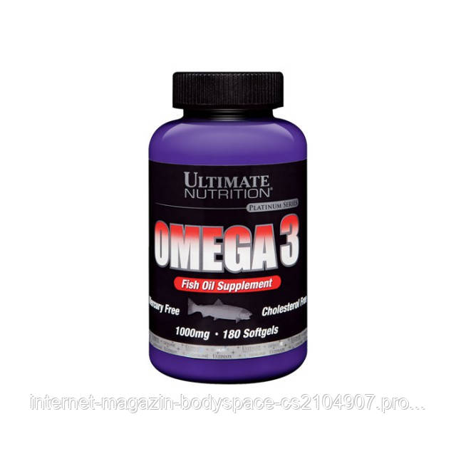 Ultimate Nutrition, Omega 3, 180 капсул
