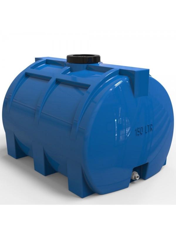 Емкость горизонтальная для воды пластиковая двухслойная объем 150 литров