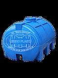 Емкость горизонтальная для воды пластиковая двухслойная объем 150 литров, фото 2