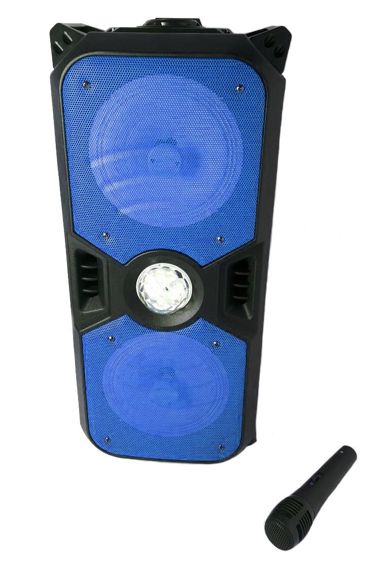 Портативная Bluetooth колонка KTS-1042 с микрофоном, синяя