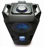 Портативная Bluetooth колонка KTS-1042 с микрофоном, синяя, фото 2