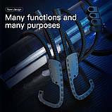 Трос универсальный с крючками BASEUS multi-purpose elastic clothesline, черный, фото 6