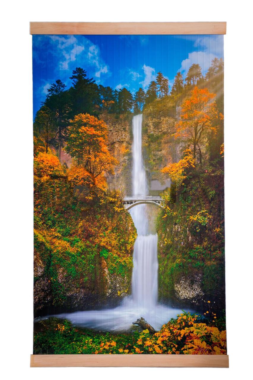 Обогреватель-картина инфракрасный настенный ТРИО 400W 100 х 57 см, водопад с мостиком