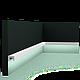 Карниз, молдинг для скрытого освещения CX190, д 200 x в 2 x ш 3 см, фото 3