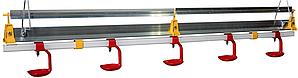 Труба линии поения Lubing 12 ниппелей