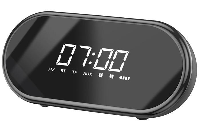 Портативная Bluetooth колонка BASEUS Encok Wireless Speaker E09 с часами, черная