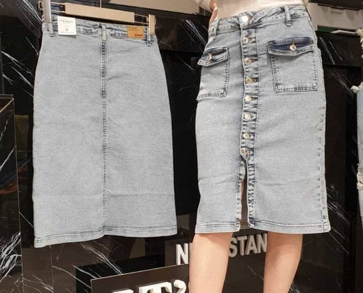 Женская джинсовая юбка(Замеры предоставляем), фото 2