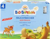Пюре из бананов и яблок без глютена Sunval 4х100 г Германия