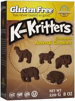 Шоколадное печенье Зоопарк Kinnikinnick Foods 220г США